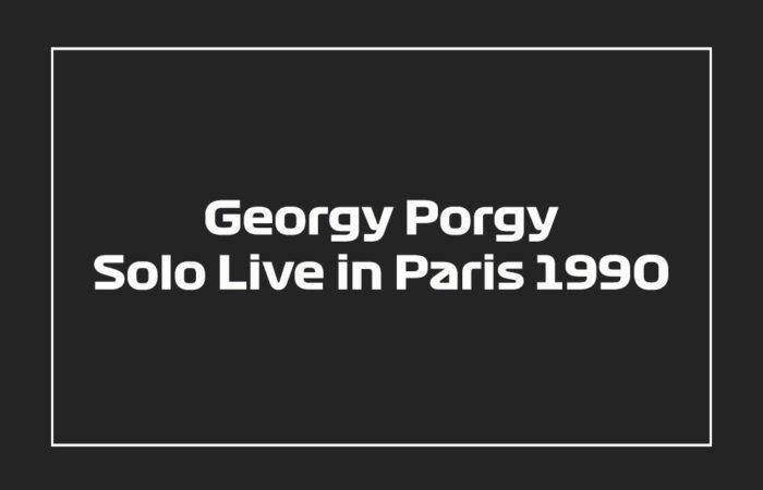 Georgy Porgy